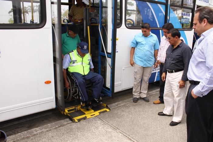 buses urbanos inclusión discapacidad