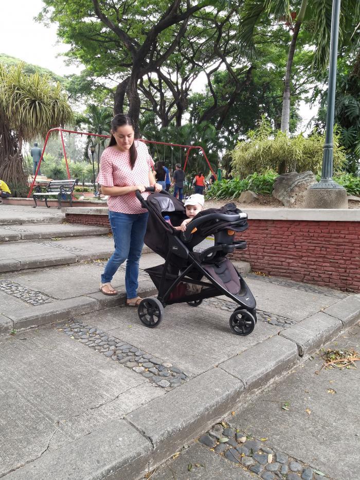 Accesos. El parque de Urdesa no tiene facilidades para coches.