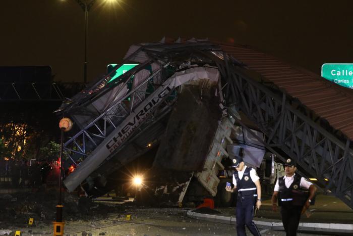 Imágenes del accidente en la avenida de Las Américas