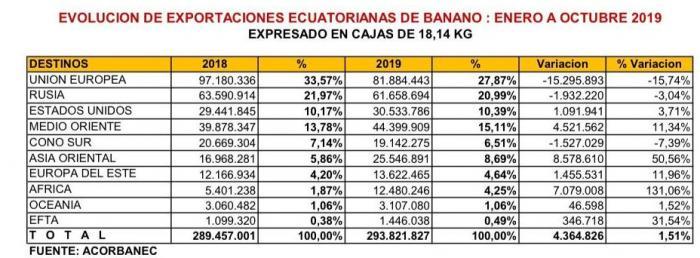banano cifras