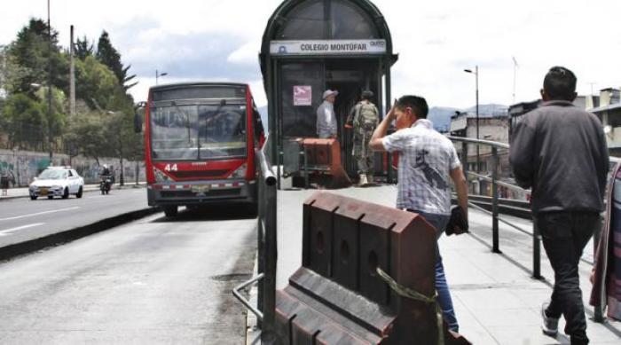 Trolebús en Quito