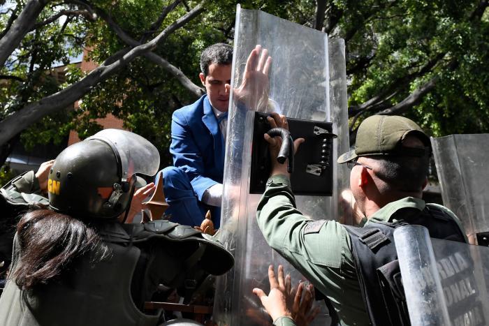 Juan Guaidó - Asamblea Venezuela - domingo 5 de enero de 2020 - AFP