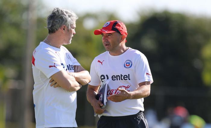 José Amador y Jorge Sampaoli