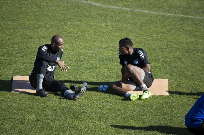 Oscar Bagüí y Romario Caicedo