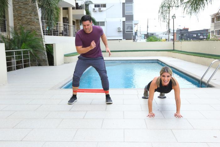 Carlos Luis Andrade y Gaby Díaz