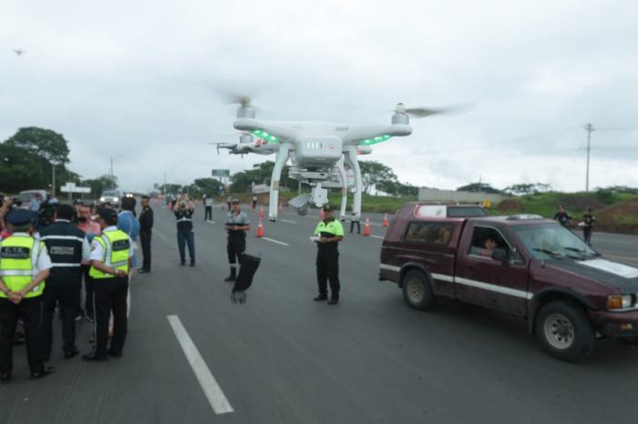 operativo via a la costa dron