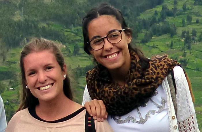 Marina Menegazzo, de 21 años, y María José Coni, de 22.