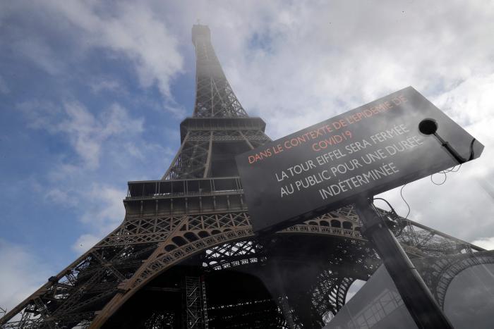 Torre Eiffel fue clausurado por el coronavirus. Marzo 2020. (AFP)