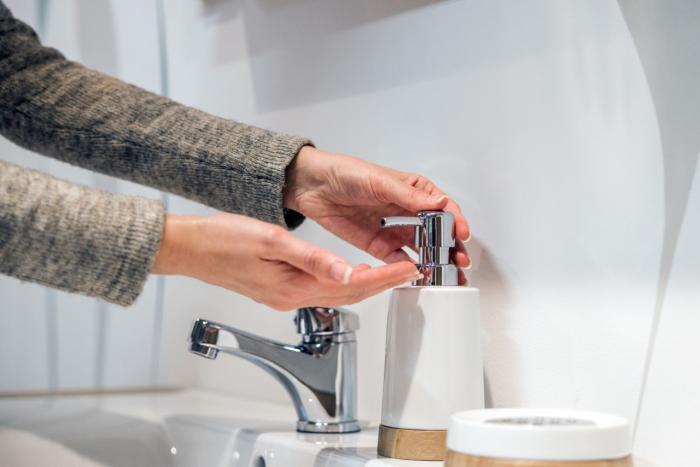 Lavándose las manos