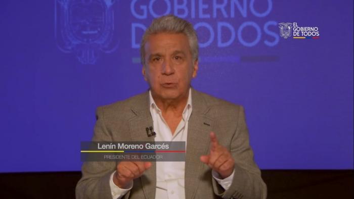 Lenín Moreno en cadena nacional