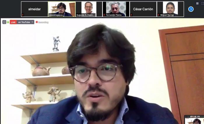 José De la Gasca, secretario Anticorrupción, ante la Comisión de Soberanía de la Asamblea Nacional.
