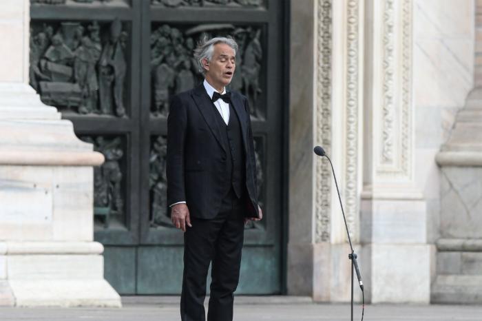 Andrea Bocelli donó su plasma tras padecer coronavirus / AFP / 26 de mayo de 2020.
