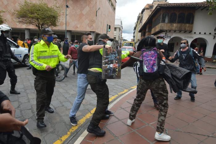 protestas en Cuenca por las medidas económicas