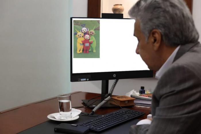 Meme de Lenín Moreno y los Teletubbies