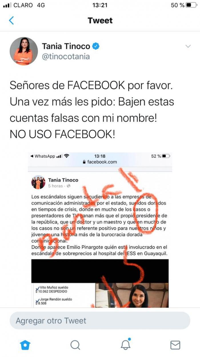 Tania Tinoco, facebook