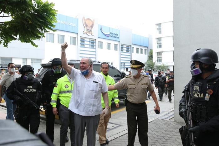 Abdalá Bucaram, conducido a la unidad de flagrancias.