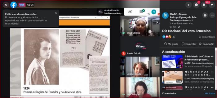 Matilde Hidalgo-Conversatorio virtual-Día del Voto Femenino
