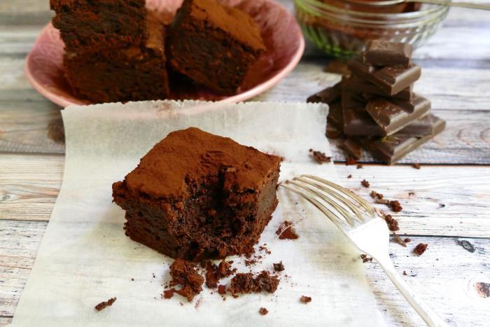 Negritos de chocolate o brownies