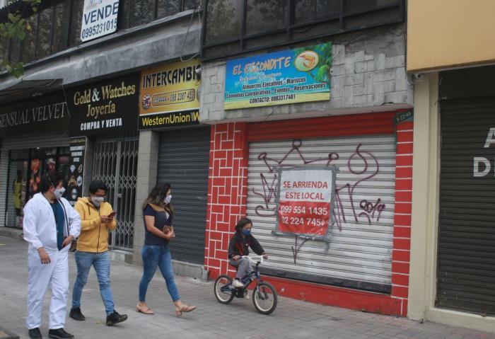 Arriendos+pandemia+desocupación+locales comerciales+Quito