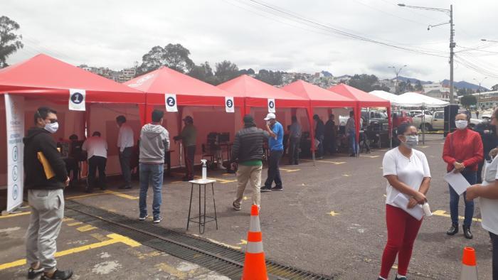 Peaje-Quito-tránsito-Carpas de atención