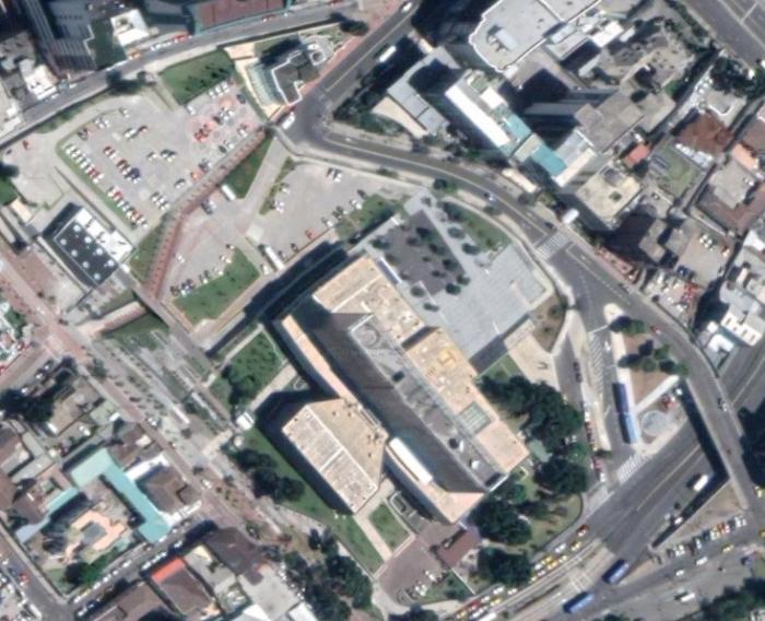 Asamblea Nacional, vista desde el satélite