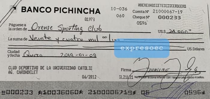Cheques-Egas