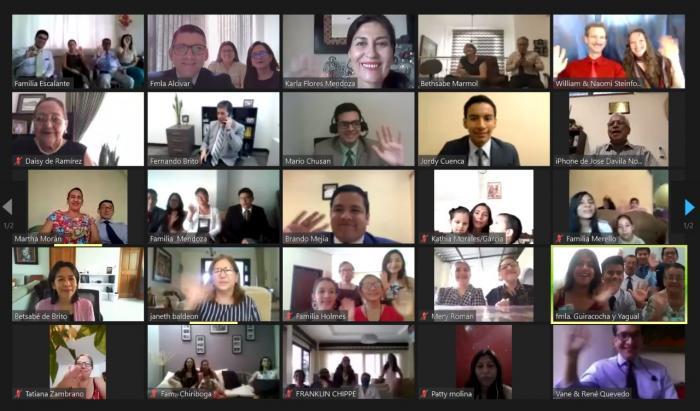 reunión virtual de los testigos de Jehová