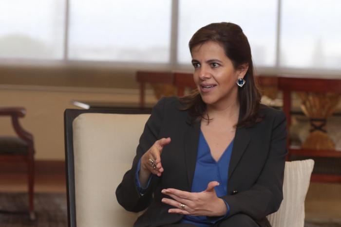 La ministra del Interior, María Paula Romo.
