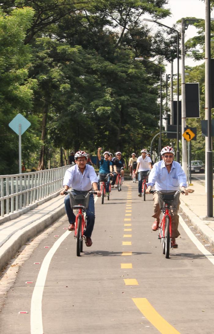 Guayaquil, a la zaga de la región en el uso de ciclovías