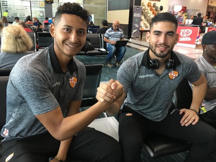 Gabriel Cevallos y Victor Mendoza, porteros de Barcelona SC.