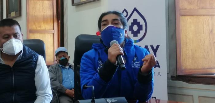 Yaku Pérez, candidato a la presidencia por Pachakutik.