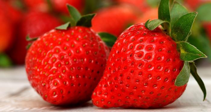 Frutillas ricas en vitamina C