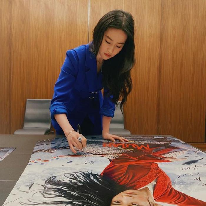 Liu Yifei, protagonista de Mulan.