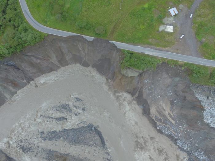 Río Coca_Erosión regresiva_Colapso de la Vía_ 22 de agosto
