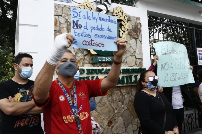Protesta de padres