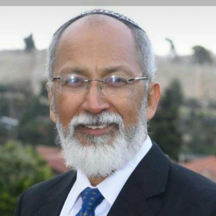 Rabino Nery Montiel, en Israel.