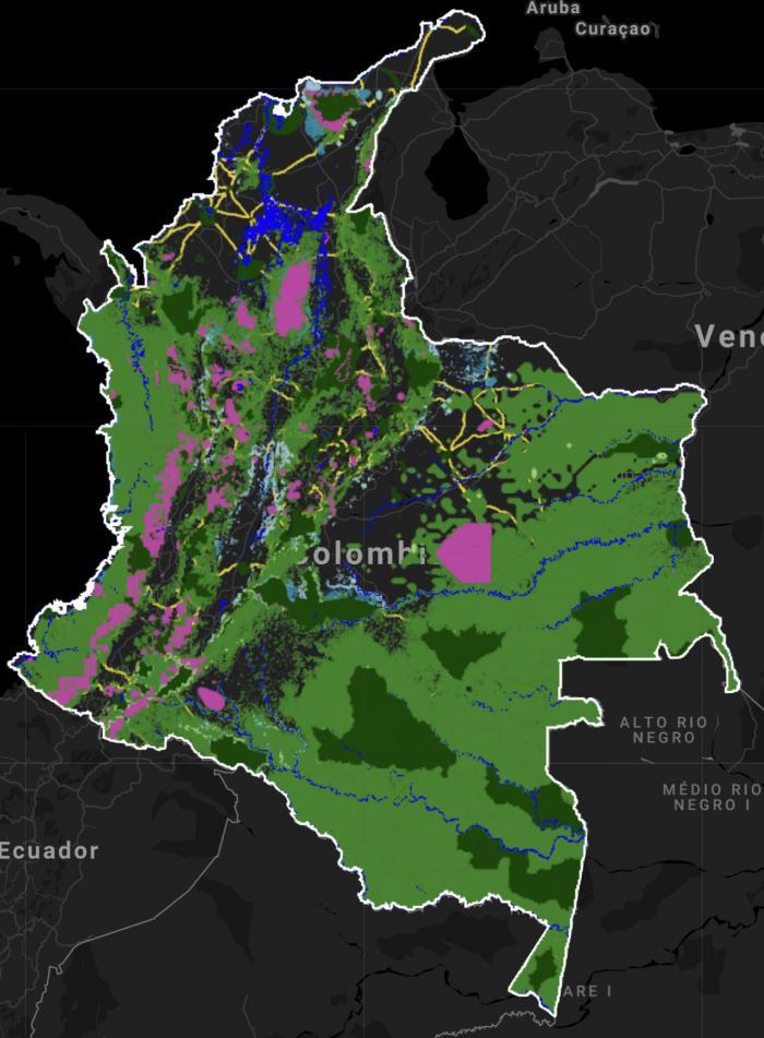 Colombia mapa digital contaminación