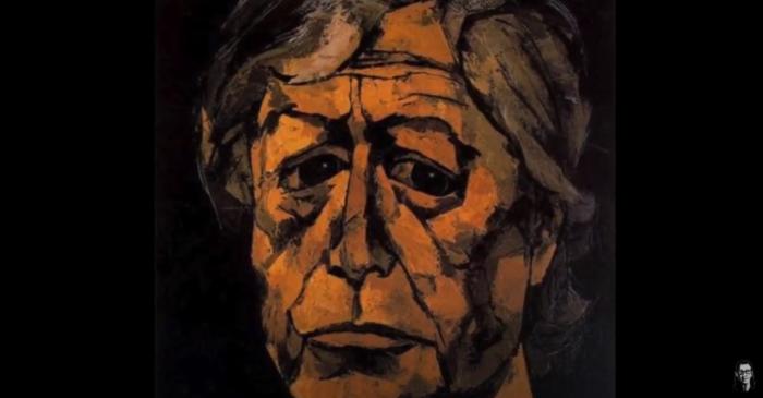 Oswaldo Guayasamín, en uno de sus autorretratos.