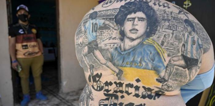 maradona tatuaje hincha