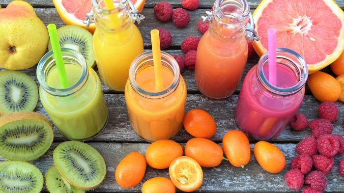 Jugos de frutas diversas