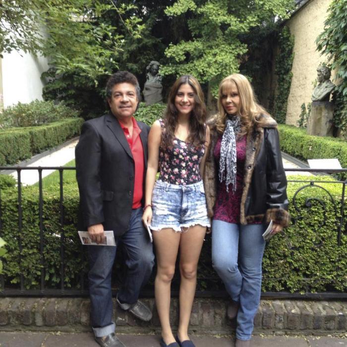 Gustavo Pacheco en familia.