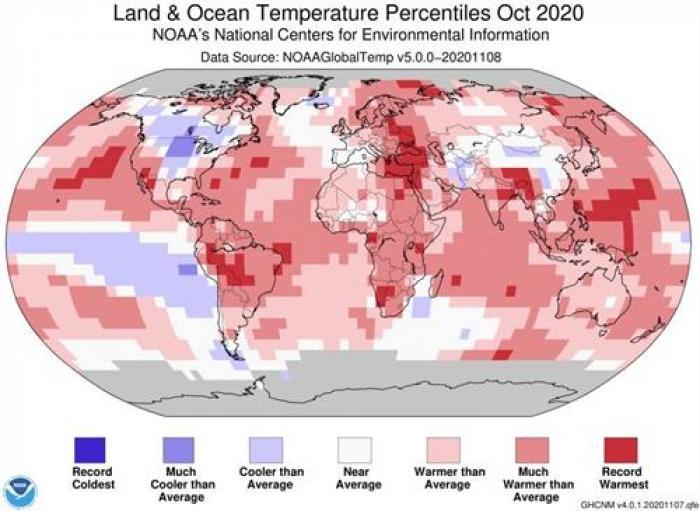 calor global octubre 2020