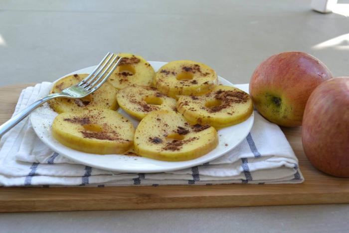 Receta de manzana con canela en polvo