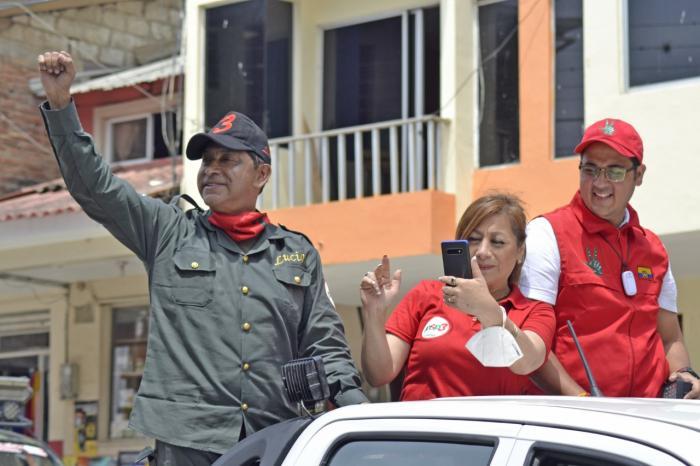 Lucio Gutiérrez en campaña electoral