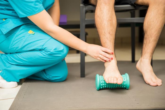 Ejercicios con rodillos para menguar el dolor del talón