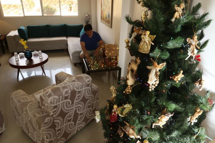 La casa de la familia Saltos Espinoza estará al mínimo de aforo estas fiestas.