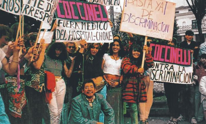 Las activistas  y sus aliados solían salir a las calles pidiendo por la despenalización de la homosexualidad.