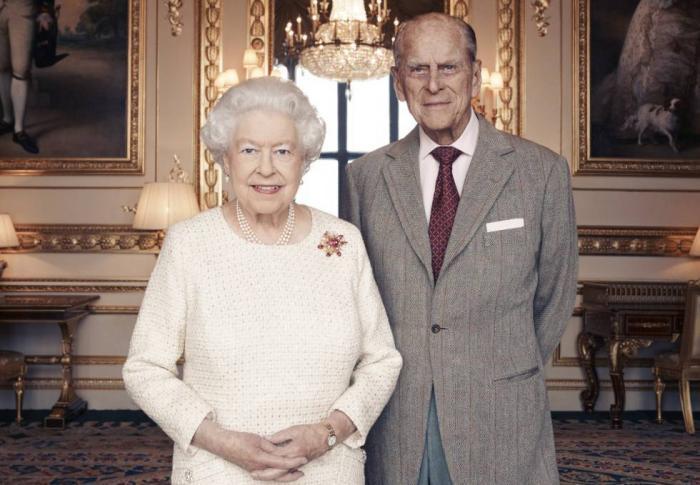 La monarca junto a su esposo Felipe