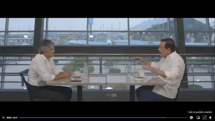 Guillermo Lasso y Jaime Nebot en un video de campaña electoral, enero 2021