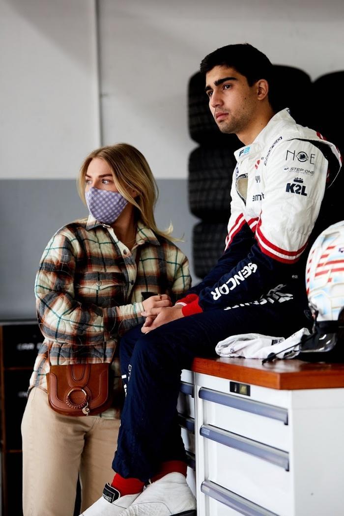 Juan Manuel Correa y su novia